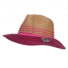 Two Tone Panama Hat