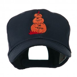 Three Pumpkins with Funny Smile Embroidered Cap