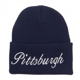 City of Pittsburgh Embroidered Long Beanie