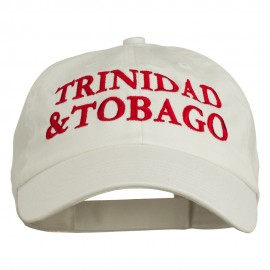Trinidad and Tobago Embroidered Pet Spun Washed Cap