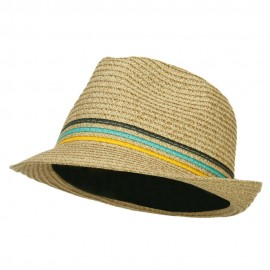 Herringbone Paper Straw Braid Fedora