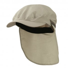 UV 50+ Talson Zippered Back Flap Ivy Cap - Khaki