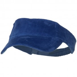 Superior Velvet Cloth Sun Visor - Royal