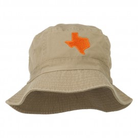 Texas State Map Embroidered Bucket Hat