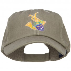 Mardi Gras Mask with Musical Instrument Embroidered Cotton Cap
