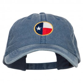 Texas State Flag Embroidered Washed Cap