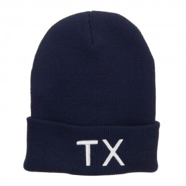 Texas State TX Embroidered Cuff Beanie