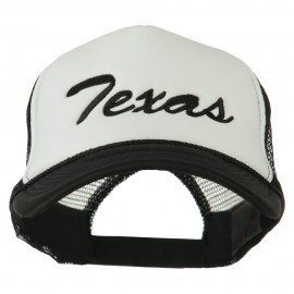 Mid States Texas Embroidered Foam Mesh Back Cap - Black White