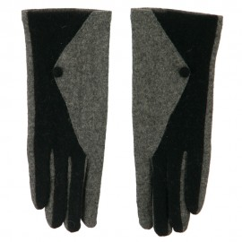 Women's Two Tone Texting Glove
