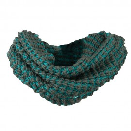 Two Tone Thick Ribbed Neck Warmer
