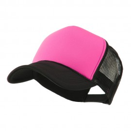 Two Tone Neon Trucker Caps - Pink