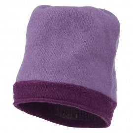 Two Tone Wool Beanie Cap