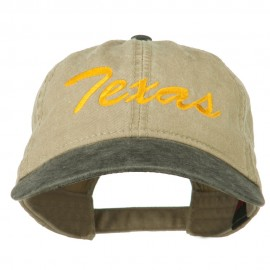 Texas State Embroidered Washed Pigment Dyed Cap