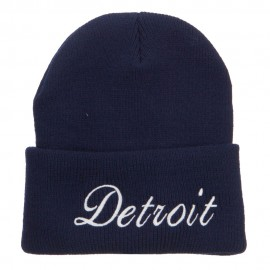 City of Detroit Embroidered Long Beanie