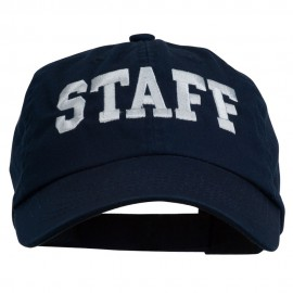 Staff Letter Embroidered Low Profile Washed Cap