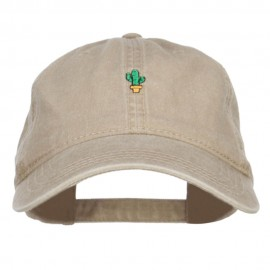 Mini Cactus Embroidered Washed Cap