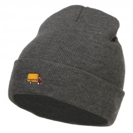Mini Truck Embroidered Long Beanie