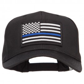 Thin Blue Line USA Flag Patched Twill Cap