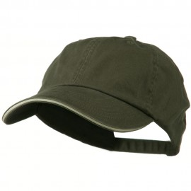 Low Profile Cotton Twill Cap - Dark Olive Putty