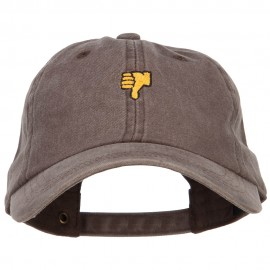 Mini Thumbs Down Embroidered Unstructured Dyed Cap