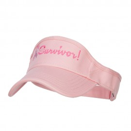 Ribbon Survivor Embroidered Cotton Twill Visor