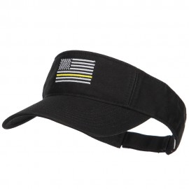 Thin Yellow Line American Flag Embroidered Visor