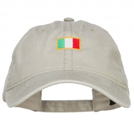 Mini Italy Flag Embroidered Washed Cap