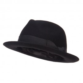 Men's Wool Felt Upbrim Fedora