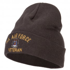 US Air Force Veteran Embroidered Big Size Long Beanie
