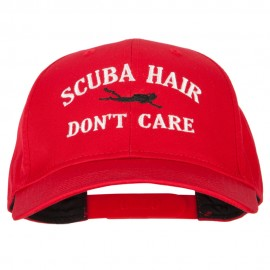 Scuba Hair Don't Care Embroidered Solid Cotton Pro Cap