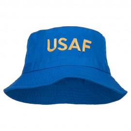 US Air Force Embroidered Pigment Dyed Bucket Hat - Royal