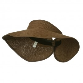 UPF 50+ Bow Closure Roll Up Visor - Brown