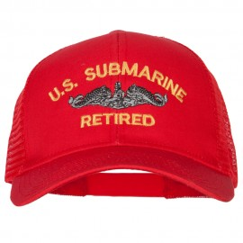 US Submarine Retired Military Embroidered Solid Cotton Mesh Pro Cap