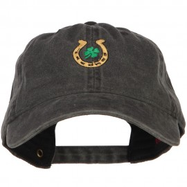 Lucky Irish Embroidered Washed Cotton Cap