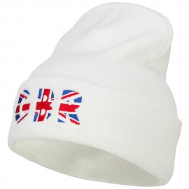 United Kingdom GBR Flag Embroidered Long Beanie