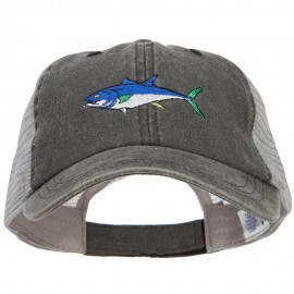 Bluefin Tuna Embroidered Washed Trucker Cap