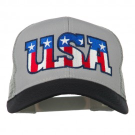 USA Letters Embroidered Mesh Cap