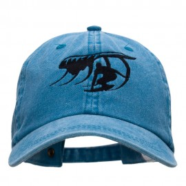 Surfer Catching Waves Embroidered Pigment Dyed Washed Cap