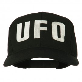 UFO Embroidered Solid Cotton Twill Cap - Black