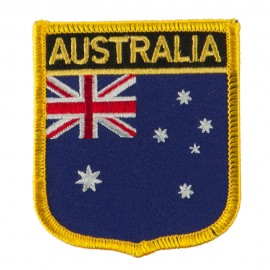 Asia and Australia Flag Embroidered Patch Shield - Australia