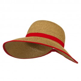 UPF 50+ Gardening Hat with Ribbon Trim Accent