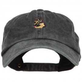 German Shepherd Head Embroidered Washed Cotton Twill Cap