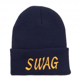 Urban Swag Embroidered Long Beanie