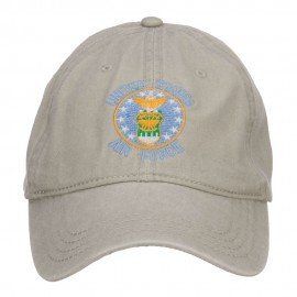 US Air Force Logo Embroidered Washed Cap