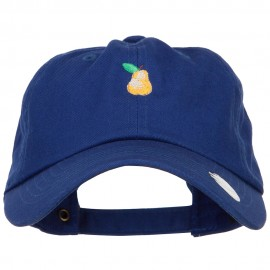 Mini Pear Embroidered Unstructured Cap