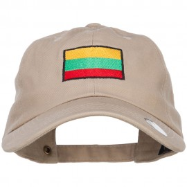 Lithuania Flag Embroidered Unstructured Cap