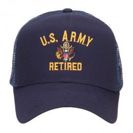 US Army Retired Military Embroidered Mesh Cap