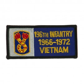 US Army Infantry Embroidered Military Patch - 196th Inf