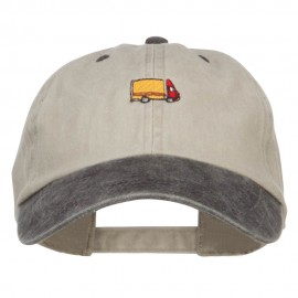 Mini Truck Embroidered Two Tone Washed Cap