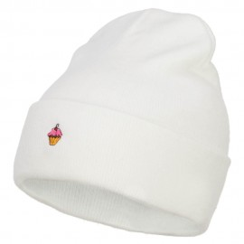 Mini Cupcake Embroidered Long Beanie
